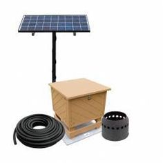 The SB-1 is an effective way of aerating ponds up to an acre in size. These systems come complete with a high efficiency solar panel, charge control system, a 3 day battery back-up, energy efficient compressor, programmable digital timer and a fully adjustable aluminum manifold housed in an attractive 100% recycled plastic cabinet.