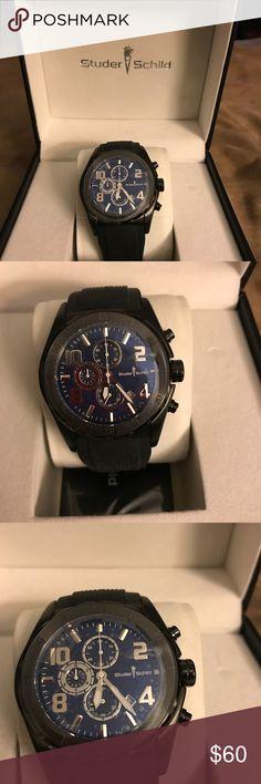 ⌚️Men's watch⌚️ Men's watch black rubber band, brand New! Studer Schlid Accessories Watches