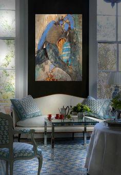 DECOR ; INTERIORS ; ART ; ROOMS ; art by SIXTOS ASCHER