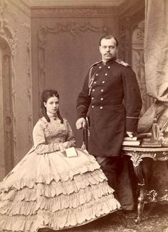 Tsar Alexander III & Empress Marie