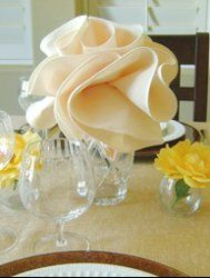 Flower Shaped Napkins. Your table decor will be the talk of your next dinner party once your guests see this amazing Flower Shaped Napkins. Make linen napkins that come to life with a floral design suitable for all kinds of occasions.