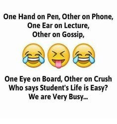 Hahaha yes we are very busy funny thoughts, funny images, funny pictures, twisted Latest Funny Jokes, Very Funny Memes, Funny School Memes, Some Funny Jokes, Funny Facts, Hilarious, Random Facts, School Humor, Funny Stuff