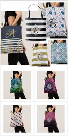 Monogrammed Totes - Stylish And Chic