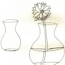 how to draw a flower vase with flowers 2