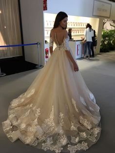 Wedding dress by TINa VALERDI Couture in Charmé Gaby Bridal Gown boutique Clearwater FL #weddingdress