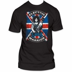 Bang a gong!! T. Rex Union Jack tshirt in men's fitted style