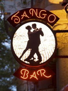 Tango Bar sign in Buenos Aires, Argentina Shall We Dance, Just Dance, Bar Signs, Shop Signs, Genre Musical, Tango Art, Tango Dancers, Argentine Tango, Argentina Travel