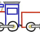 Toy Train and Cart Machine Applique Embroidery Design 5x7