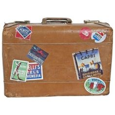 Vintage Suitcase (1.310 DKK) ❤ liked on Polyvore featuring home, home decor, bags, fillers, luggage, accessories, items, decorative objects, vintage home accessories and vintage home decor