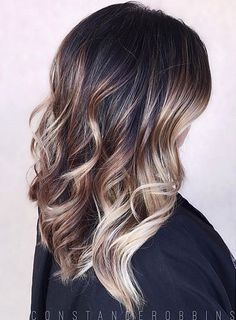 want this hair color - brunette balayage ombre