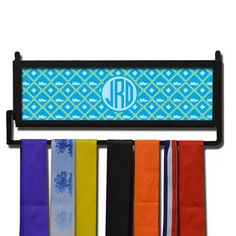 Personalized RunnersWALL Shoe Pattern Monogram Medal Display | Running Medal Hangers | Running Home Decor | Wall Displays for Race Medals  #run #running #marathon #gift