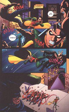 Batman: Gotham Knights #32 hahaha!!! I think this is dick or damian.