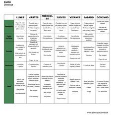 Menu semanal 892 609 menus diarios pinterest for Dieta familiar y planificacion de menus diarios y semanales