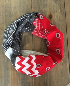 Ohio State Infinity Scarf by KutKloth on Etsy