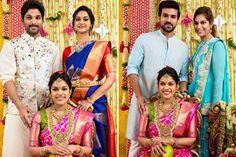 Allu ARjun and Ram Charan at Srija Marriage | #Srija #Wedding #Celebs #Chiranjeevi #MegaFamily