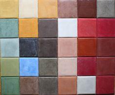 Tadelakt colour samples