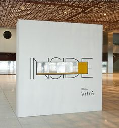 """""""Inside"""" Entrance wall to exhibition, minimalist design"""