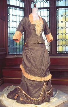 fripperiesandfobs:  Dress, 1876 From the Vassar College Costume Collection