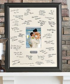 Look what I found on #zulily! Black Wedding Wishes Personalized Signature Frame by JDS Marketing #zulilyfinds