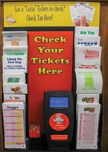 Lottery Ticket Checker and literature holder