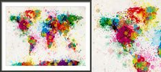 World Map Silhouette, World Map Wall Art, Wall Decals, Abstract, House, Painting, Etsy, Summary, Home