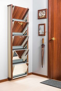 Шкаф для обуви для маленькой прихожей в интернет-магазине ShopIron.Ru Shoe Racks, Bookcase, Shelves, Home Decor, Shelving, Homemade Home Decor, Shoe Cupboard, Shoe Rack, Shelf
