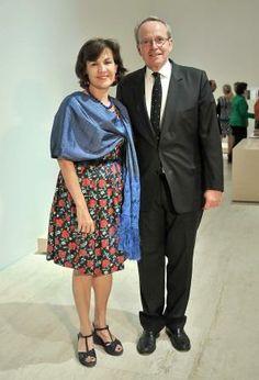 In Mexico, at Jumex Museum, Elisabeth Betón Delègue, Ambassador of France in Mexico, and Renaud Donnedieu de Vabres