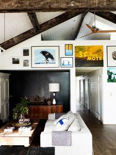 exposed beams, hidden loft
