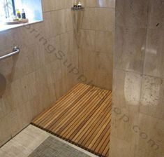 We offer a wide range of standard sizes and styles of teak wood mats, but we can also create just about any size, shape or design that you can imagine. Get your custom ordered teak wood shower mats today at the Flooring Supply Shop. Shower Wood Floor, Teak Shower Mat, Shower Mats, Teak Flooring, Wide Plank Flooring, Hardwood Floors, Modern Flooring, Flooring Ideas, Teak Wood