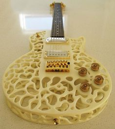 (Just wanted to show you guys another piece of a 3D printed object. You can actually use this as a guitar!