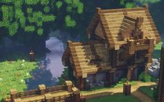 A Medieval Cottage : Minecraft – mawal – Haus Ideen – Lego - Minecraft World 2020 Minecraft Farmen, Minecraft Kunst, Cute Minecraft Houses, Minecraft Welten, Minecraft Houses Survival, Amazing Minecraft, Minecraft Houses Blueprints, Minecraft Construction, Minecraft Designs