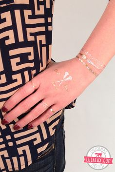 Show your love for lax on and off the field with our fashionable Metallic Jewelry Tattoos! Get them only at LuLaLax.com!