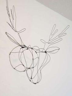 mommo design: WIRE DECOR - Deer Head