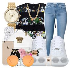 """""""( 01)"""" by trap-ical ❤ liked on Polyvore featuring Markus Lupfer, Michael Kors, Versace, NIKE, Beats by Dr. Dre and Gucci"""