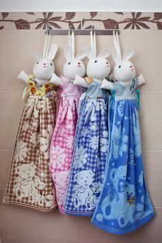 Toalla de conejito decoración de cuarto de baño bonito por ZuikaEU