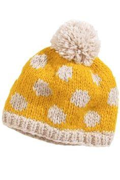 Ochre Spot Beanie from the Next UK Crochet Woman, Knit Crochet, Crochet Hats, Knitting For Kids, Baby Knitting, Knitting Patterns, Crochet Patterns, Fairy Clothes, Knitting Accessories