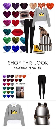 """""""color me cute"""" by beaniesandbowties ❤ liked on Polyvore featuring River Island, Alice + Olivia, Henri Bendel and Dr. Martens"""