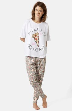 Topshop 'Pizza for Breakfast' Pajama Set available at #Nordstrom