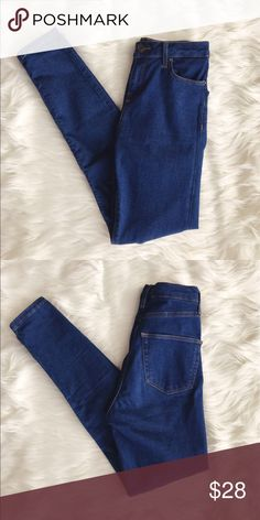 "• TopShop • High Waist Skinny Jeans - TopShop  - Moto Jeans  - Style: Jamie  - High Waisted  - Skinny Jeans - Size 25 - Inseam 35""  - New without tags Topshop Jeans Skinny"