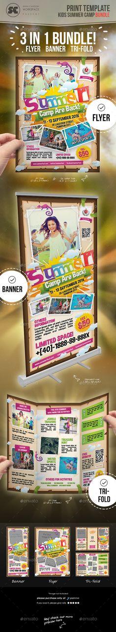 Kids Summer Camp Flyer Print templates, Flyer printing and Template - camp flyer template