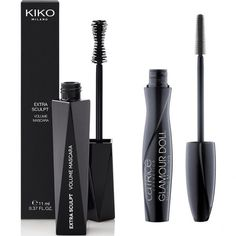 Kiko extra sculpt + catrice glam and doll mascaras = big lashes