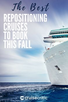 Learn more about and continue reading below for details on several of our favorite repositioning cruises for 2019 and Fall 2020 Repositioning Cruise Tips, Cruise Travel, Cruise Vacation, Vacation Ideas, Repositioning Cruises, Cruise Critic, Family Cruise, Saving Money, Travel Tips