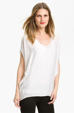 Vince Dolman Silk Top available at #Nordstrom