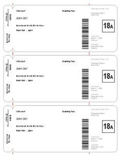 """use this template to make fake airplane tickets to play """"vacation."""" each kid gets a ticket then you say you are going to hawaii and serve fruit and pretzels as you are on the """"airplane"""" you can even watch a movie on the plane :)"""