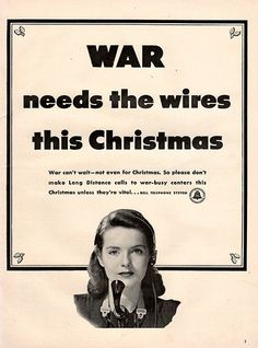 1942 Bell Telephone Operator Original World War 2 WW2 Print Ad