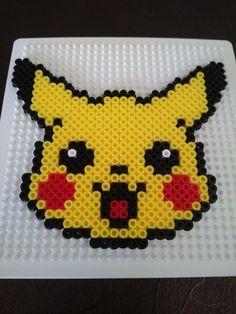 Melt Beads Patterns, Beading Patterns, Embroidery Patterns, Pyssla Pokemon, Hama Beads Pokemon, School Age Crafts, Pikachu, Hama Beads Design, Peler Beads