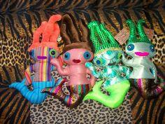 Dadás Sereias, Delfina Reis  #dolls #art #delfinareis  #oneofakind  #softsculpture #dodotoyart  #toyart Dodô & Dadá Toy Art  #softies #soft sculpture #artdolls #toys #dodos&dadas #dodos #dada  #doll #mermaid