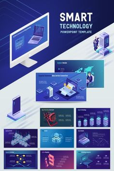 Smart Technology PowerPoint Template comes loaded with amazing presentation based infographics which are fully editable and are designed to help you craft