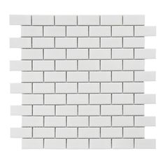 Create a chic backsplash or stylish wall with this glazed porcelain mosaic tile, the perfect finishing touch for your kitchen or master bath.  ...