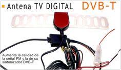Buenas tardes amig@s!! Hoy destacamos nuestra #Antena de #Televisión #Digital 28dB para #Sintonizador #TDT con Amplificador FM y Conector SMA. Estas son algunas de sus características: - Antena Digital DVB-T adhesiva - Frecuencia de Radio: 88-108MHz - Receptor de Canales: Canales VHF 40.5 - 223Mhz, Canales UHF 450 - 862MHZ - Alimentación: DC 12V - Consumo: 30-50mA - Ganancia - Radio: 18dB / TV: VHF 22 ± 3dB/UHF 20 ± 3dB - Cable de alimentación independiente con transformador